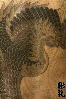 刺青作品 和彫り「鳳凰」