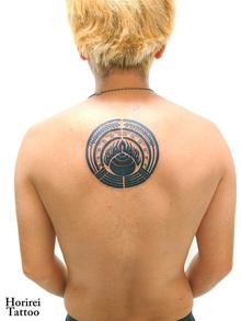 刺青作品 Tattoo「神紋のアレンジ」