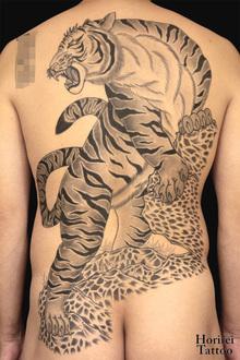 刺青作品 和彫り「虎」