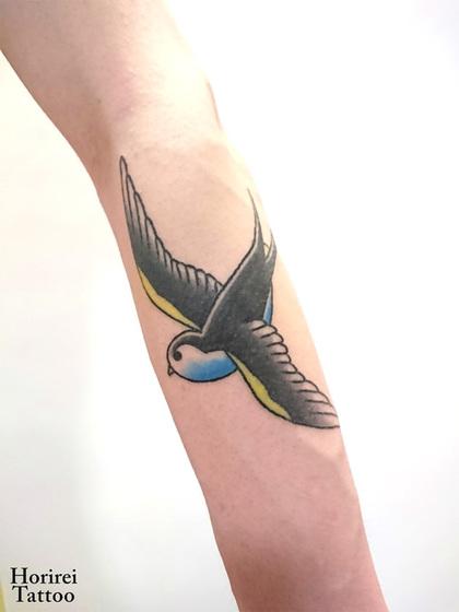 刺青作品 Tattoo 「ツバメ」