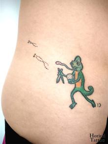 刺青作品 Tattoo 「カメレオン」