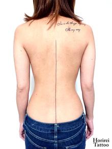 刺青作品 Tattoo 「直線」