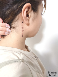 刺青作品 Tattoo 「耳裏タトゥー」